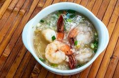 Mingau do arroz do camarão Imagem de Stock Royalty Free