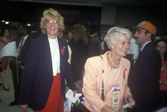 Mingling at the 1992 Democratic National Convention at Madison Square Garden, New York Royalty Free Stock Photo
