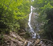Mingo Falls on the Cherokee Indian Reservation. royalty free stock photos