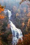 Mingo Falls som ?r cherokee, North Carolina royaltyfri fotografi