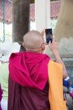 Mingun klocka Myanmar fotografering för bildbyråer