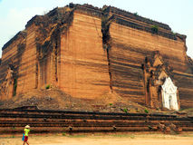 Mingun (Mantara Gyi) Pagoda (Built 1790-7). Mingun Pagoda (Earthquake collapse 1838) Myanmar (Burma royalty free stock photo