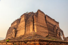 Mandalay - Mingun. Mingun near Mandalay is tourist attraction - Base of Never Completed Pagoda Pa Hto Taw Gyi Stock Photography