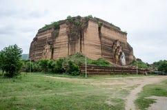 Mingun Pagoda. The remains of the Mingun Pagoda, Manadalay, Myanmar Royalty Free Stock Photography