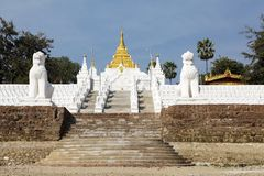 Mingun Pahtodawgy Myanmar Obrazy Stock