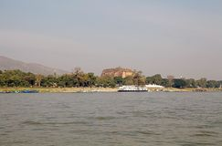 Mingun Pahtodawgy Myanmar. The MIngun Pahtodawgy view from Irrawaddy river, Mingun, Myanmar. The Mingun Pahtodawgy is an incomplete stupa. The ruins are the Stock Photography