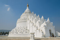 Mingun white pagoda, Myanmar Stock Photo