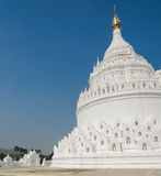 Mingun white pagoda, Myanmar Royalty Free Stock Images