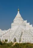 Mingun white pagoda, Myanmar Stock Photography