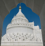 Mingun white pagoda. Myanmar Stock Photo