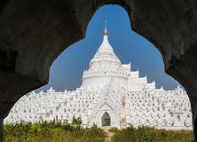 Mingun white pagoda, Myanmar Royalty Free Stock Photography
