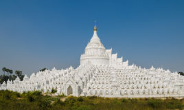 Mingun white pagoda, Myanmar Royalty Free Stock Photos