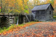 Mingus Mill. Historic Mingus Mill in Autumn royalty free stock images