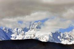 Mingyong för Meili snöberg glaciärer royaltyfri bild