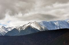 Mingyong för Meili snöberg glaciärer royaltyfria bilder