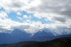 Mingyong för Meili snöberg glaciärer Arkivfoton
