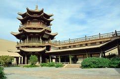 Mingyue Pavilion. In Dunhuang,China Royalty Free Stock Image