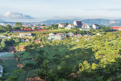 Minh Hoa Seminary in Da Lat Vietnam. Minh Hoa Seminary on hills in Vietnam. Dalat countryside is idyllic with hardworking people, hardy, beautiful  under the Royalty Free Stock Images