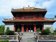 Minh Mang皇帝坟茔的在颜色,越南亭子 免版税图库摄影