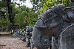 Minh Mang Royal Tomb, Farbe, Vietnam Lizenzfreie Stockfotos