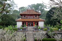 Minh Mang Royal Tomb Hue - Vietname Ásia fotografia de stock