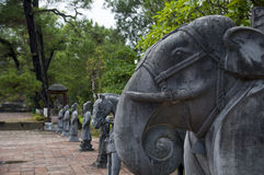 Minh Mang Royal Tomb ton, Vietnam Royaltyfria Foton