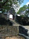 Minh Mang Tomb, Hue Vietnam. Entrance staircase and arch gate at Minh Mang royal Tomb, Hue Vietnam stock photos