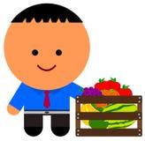 Minha caixa de frutos Fotografia de Stock