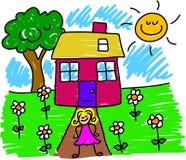 Minha casa Imagens de Stock