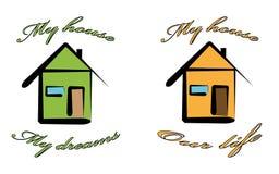 Minha casa Imagem de Stock Royalty Free