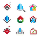 Minha casa, bens imobiliários da construção em linha do Search Engine ilustração stock