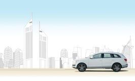 Minha cidade meu carro (Dubai) ilustração stock