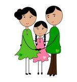 Minha família ilustração royalty free