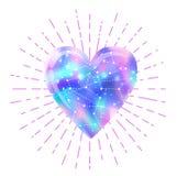 Minha galáxia Ilustração colorida brilhante do cosmos do vetor com coração ilustração royalty free