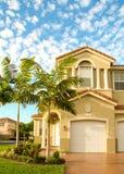 Casa em subúrbios de Miami Imagem de Stock Royalty Free
