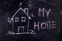 Minha HOME Imagens de Stock Royalty Free
