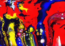 Minha lâmpada da lava quebrou, fundo retro psicadélico de A Imagens de Stock Royalty Free