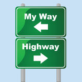Minha maneira ou a estrada Foto de Stock