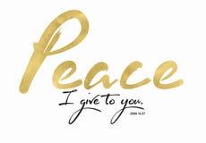 Minha paz que eu lhe dou Fotografia de Stock