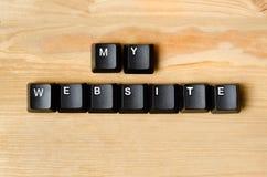 Minhas palavras do Web site Imagens de Stock Royalty Free