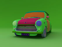 Mini. Multi-coloured render mini cooper vector illustration