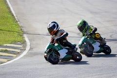 Mini ação do campeonato da bicicleta Fotografia de Stock