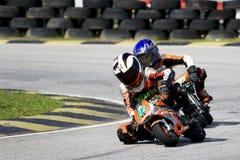 Mini acción del campeonato de la bici Imagen de archivo libre de regalías