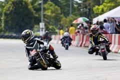 Mini acción del campeonato de la bici Fotografía de archivo libre de regalías