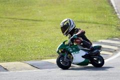 Mini acción del campeonato de la bici Imágenes de archivo libres de regalías