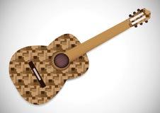 Mini Acoustic Guitar vector illustration