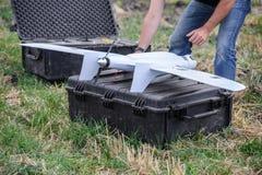Mini-aereo militare della spia fotografia stock libera da diritti