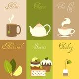 Mini affiches de thé réglées Photo stock