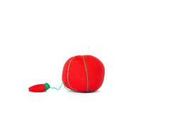 Mini almohada roja Fotos de archivo libres de regalías