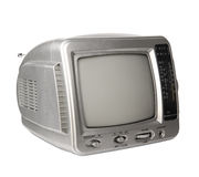 Mini analog television with transistor radio isolated clipping p Stock Images